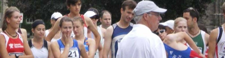 Line up for the 2009 Canandian Race Walk Championships