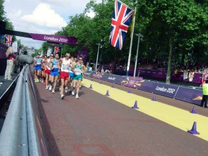 Start of the London Olympics Men's 20km Race Walk